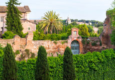 Beautiful cityscape near the Palatine Hill in Rome Stock Photography