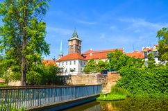 Free Beautiful Cityscape Of Pilsen, Czech Republic With Dominant Water Tower, Vodarenska Vez In Czech, Photographed From Park By Royalty Free Stock Images - 161391979