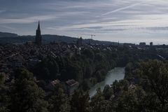 Cityscape over the capital Bern royalty free stock photos