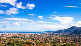 Beautiful cityscape of Palermo, In Italy Royalty Free Stock Images