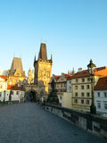 Beautiful cityscape of Prague old town at sunrise time, Czech Republic. Stock Images