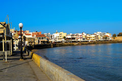 Beautiful cityscape and promenade in city of. Chania, Greece, Crete Island Stock Images