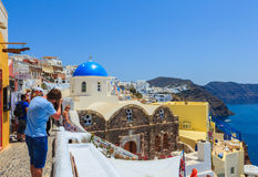 Beautiful cityscape of Santorini. Stock Photo