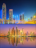 Beautiful cityscape set and collage of Dubai Royalty Free Stock Photo