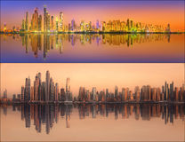 Beautiful cityscape set and collage of Dubai Stock Images