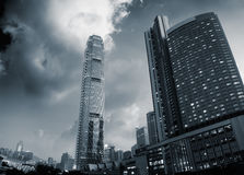Beautiful cityscape of skyscrapers stock photos