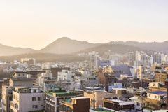 A beautiful cityscape in South Korea royalty free stock photo