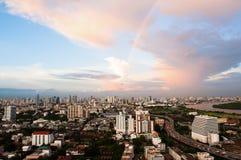 Beautiful Cityscape Sunset Royalty Free Stock Images
