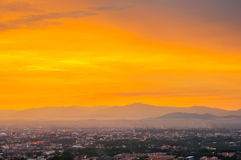 Beautiful Cityscape Sunset at Songkhla Thailand. Beautiful Cityscape Sunset at Songkhla south of Thailand royalty free stock photo