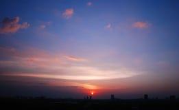 Beautiful Cityscape Sunset Stock Photography