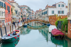 Beautiful cityscape in Venice during rain Stock Photography