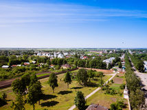Beautiful cityscape. View of the old Russian town of Suzdal. Gol Royalty Free Stock Images