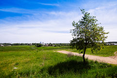 Beautiful cityscape. View of the old Russian town of Suzdal. Gol Stock Image
