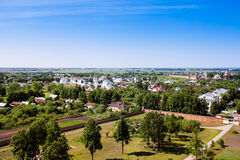 Beautiful cityscape. View of the old Russian town of Suzdal. Gol Stock Images