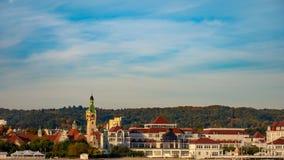 Beautiful cityview/cityscape of Sopot, Poland. Amazing sunrise stock photography