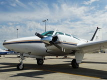 Beautiful classic Be55 Beechcraft Baron. Stock Images