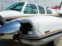 Beautiful classic Be55 Beechcraft Baron. Royalty Free Stock Image