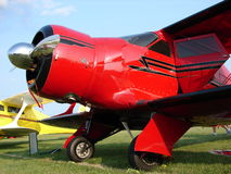 Beautiful classic Beechcraft Model 17 Staggerwing Biplane. Stock Photos