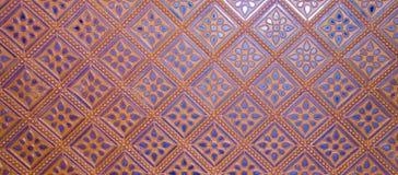 Beautiful classic blue bronze wall pattern Royalty Free Stock Photography