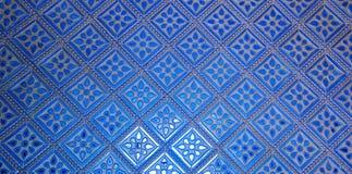 Beautiful classic blue wall pattern Royalty Free Stock Photography