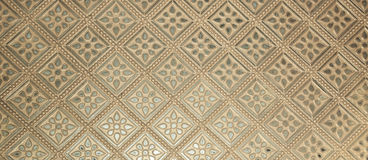 Beautiful classic bronze wall pattern Stock Photos