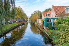 Beautiful classic Edam canal scene royalty free stock photography