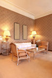Beautiful classic living room Stock Photos