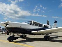Beautiful classic Piper Pa32 Cherokee six. Stock Photos