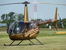 Beautiful classic Robinson R44 Raven helicopter. Stock Images