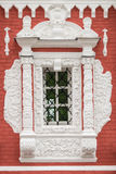 Beautiful classic vintage window on the facade. Royalty Free Stock Photography