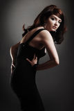 Beautiful classic Woman. A beautiful brunette model posing royalty free stock image