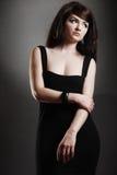 Beautiful classic Woman. A beautiful brunette model posing royalty free stock photography