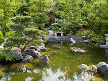 Beautiful classical garden fish pond Royalty Free Stock Photo