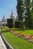 Beautiful classical gardens of La Granja de San Ildefonso, monum Royalty Free Stock Image