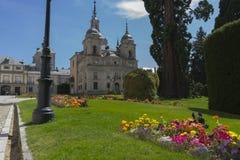 Beautiful classical gardens of La Granja de San Ildefonso, monum Stock Photos
