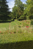 Beautiful classical gardens of La Granja de San Ildefonso, monum Royalty Free Stock Photos