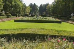 Beautiful classical gardens of La Granja de San Ildefonso, monum Stock Image
