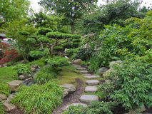 Beautiful classical Japanese garden royalty free stock images