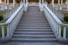 Beautiful classical mansion staircase in the park Stock Photo