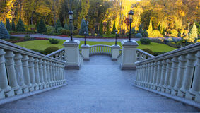 Free Beautiful Classical Staircase With Autumn Park View Royalty Free Stock Photos - 61826758