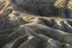 Badlands in Zabriskie Point, Death Valley National Park Royalty Free Stock Photo