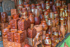 Beautiful Clay pots. Stock Photos