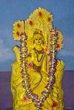 Beautiful clay statue of hindu goddess Saraswati. royalty free stock photo