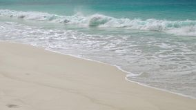 Sea Beach, Seychelles stock footage
