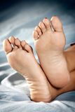 Beautiful clean female feet Royalty Free Stock Photography