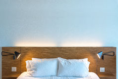 Beautiful Clean and Modern Bedroom stock photo