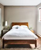 Beautiful Clean and Modern Bedroom Royalty Free Stock Photography