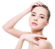 Beautiful clean woman face Royalty Free Stock Photography