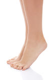Beautiful clean woman's feet. Royalty Free Stock Image