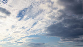 Beautiful clear crisp cloudscape with large, building clouds. Royalty Free Stock Photos